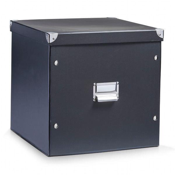 boite carton 35 litres noir achat vente boite de rangement carton cdiscount. Black Bedroom Furniture Sets. Home Design Ideas