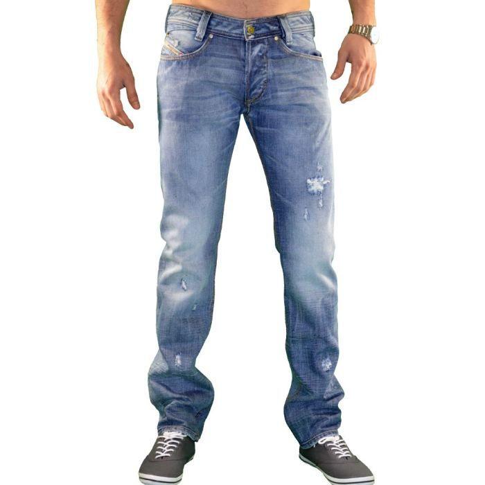diesel jean homme slamm bleu achat vente jeans cdiscount. Black Bedroom Furniture Sets. Home Design Ideas