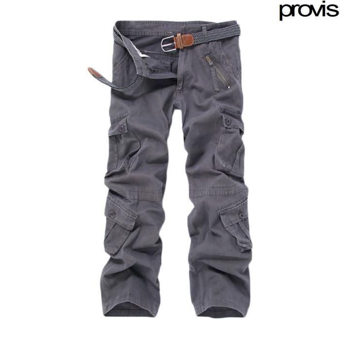 homme pantalon cargo pants militaire camouflage gris achat vente pantalon cdiscount. Black Bedroom Furniture Sets. Home Design Ideas