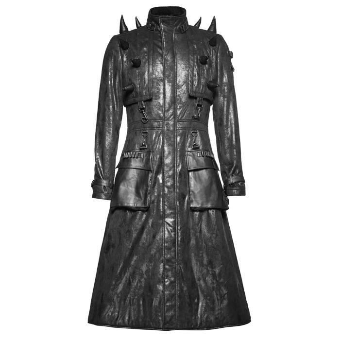 manteau long cuir homme achat vente manteau long cuir homme pas cher cdiscount. Black Bedroom Furniture Sets. Home Design Ideas