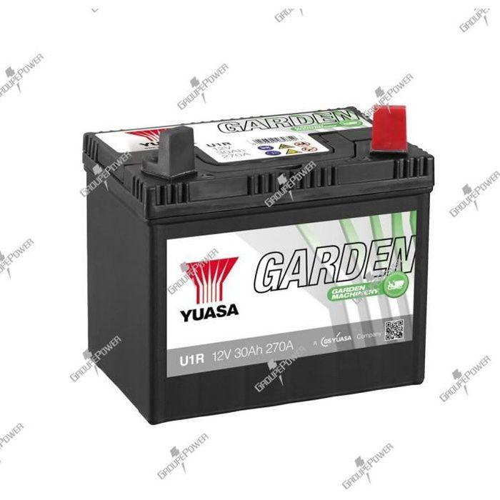 Batterie tracteur tondeuse u1r 12v 30ah 270a yuasa garden - Batterie tracteur tondeuse ...