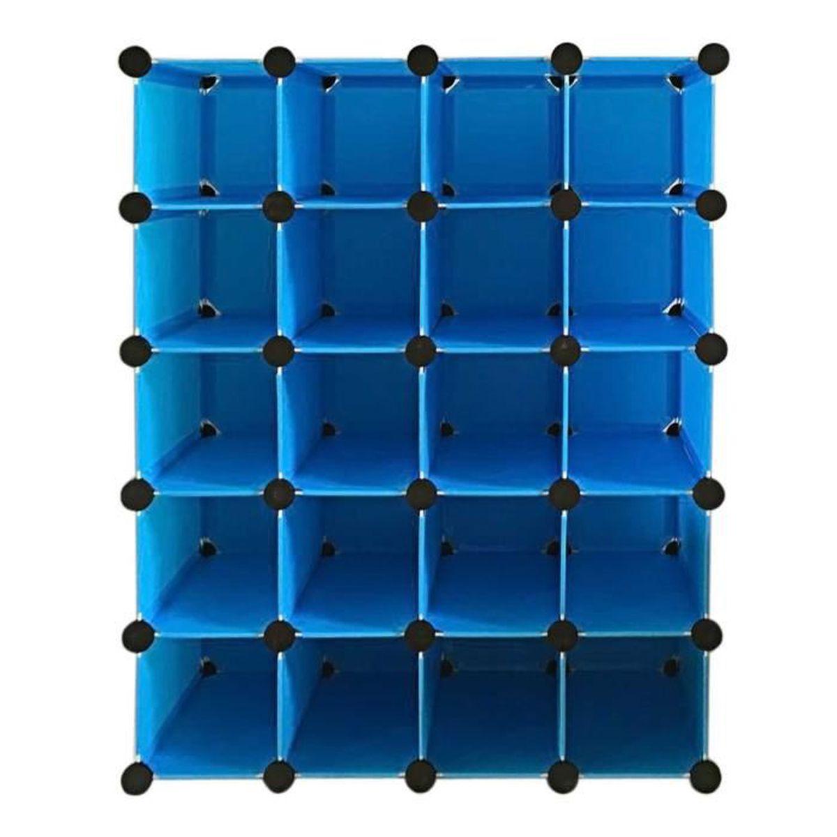 Armoire rangement placard organisateur 16 paires de cube achat vente armo - Cdiscount armoire de rangement ...