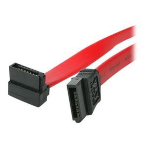 STARTECH Câble SATA vers SATA coudé ? angle droit de 45 cm - Cordon Serial ATA III 6 Gb/s