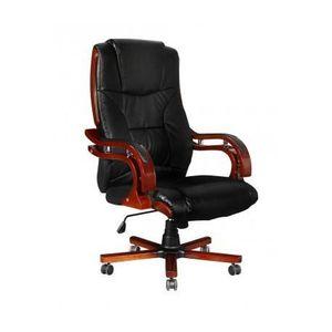 fauteuil de bureau cuir noir achat vente fauteuil de bureau cuir noir pas cher les soldes. Black Bedroom Furniture Sets. Home Design Ideas