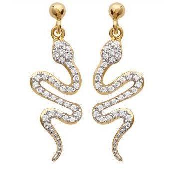 boucles d oreilles serpent plaque or achat vente pas