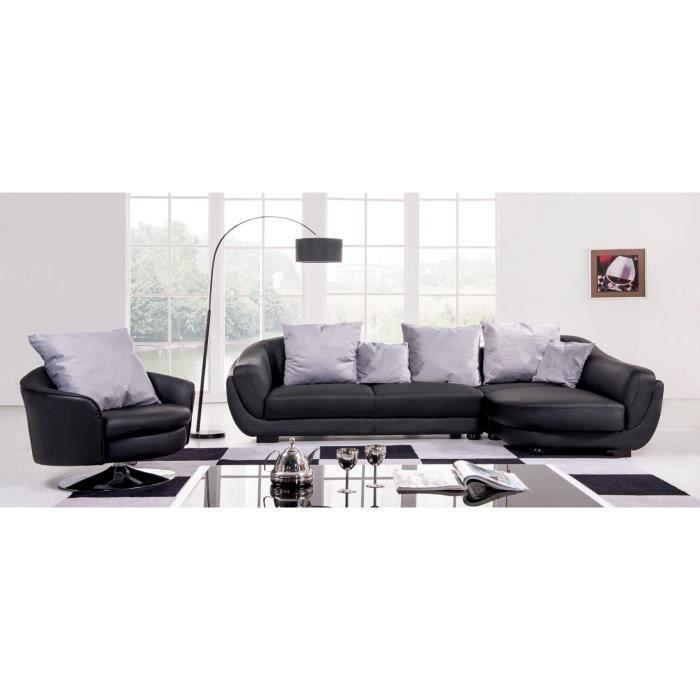 Canap d 39 angle droit achat vente canap sofa divan cuir bois c - Canape d angle droit ...