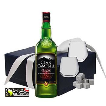 whisky clan campbell coffret 2 verres pierres wh achat. Black Bedroom Furniture Sets. Home Design Ideas