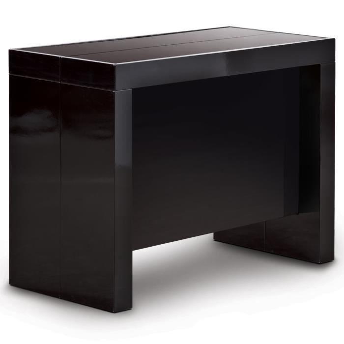 Table console pandore noir achat vente console extensible table console p - Table console extensible avec rangement ...