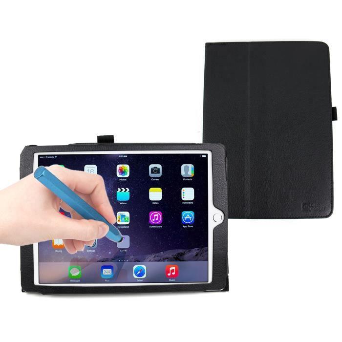 etui noir pour apple ipad air 2 stylet bleu prix pas. Black Bedroom Furniture Sets. Home Design Ideas