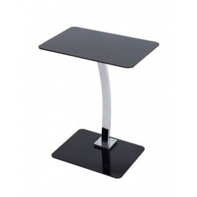 Table carr noire d 39 ordinateur portable 6mm avec support for Table d appoint ordinateur