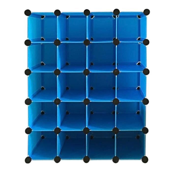 armoire rangement placard organisateur 16 paires de cube. Black Bedroom Furniture Sets. Home Design Ideas