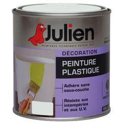 Julien peinture plastique 0 5l gris perle achat vente for Prix peinture julien