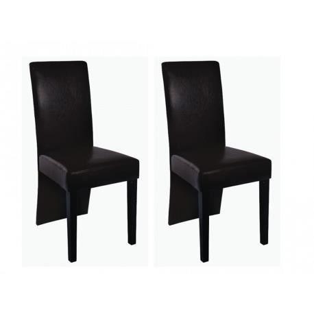 chaises de salle a manger moderne marron - achat / vente chaises ... - Chaises Salle A Manger Moderne