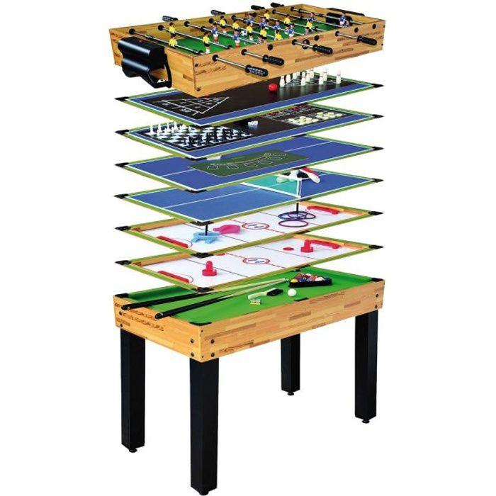 Ociotrend table multijeux 12 en 1 achat vente table multi jeux cdiscount - Table de jeux 5 en 1 ...