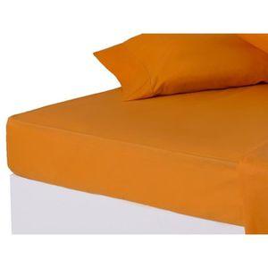 drap plat orange achat vente drap plat orange pas cher. Black Bedroom Furniture Sets. Home Design Ideas