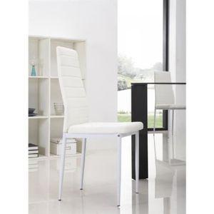CHAISE LOT de 6 chaises Design Blanches