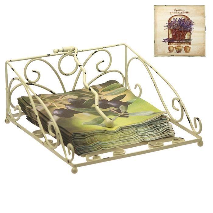 porte serviette de table provence lavande achat vente. Black Bedroom Furniture Sets. Home Design Ideas