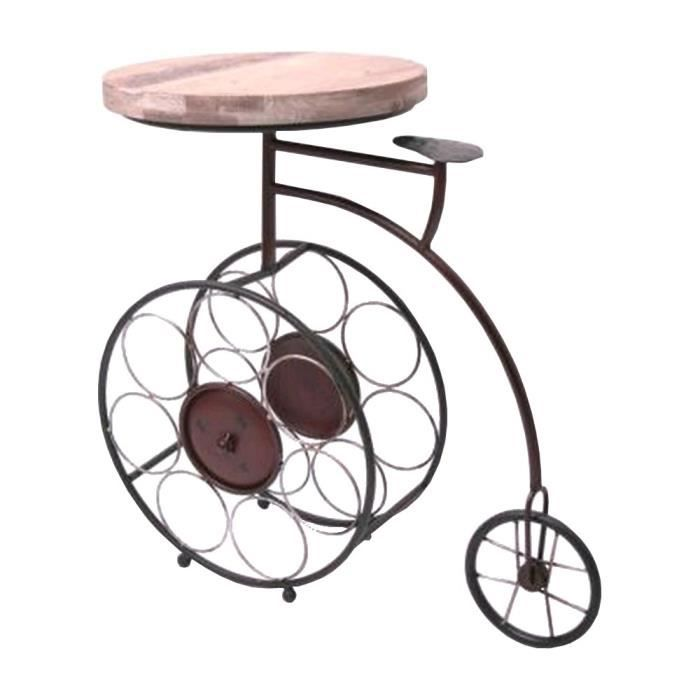 Console Gueridon: GUERIDON TABLE RANGE BOUTEILLE VELO TRICYCLE