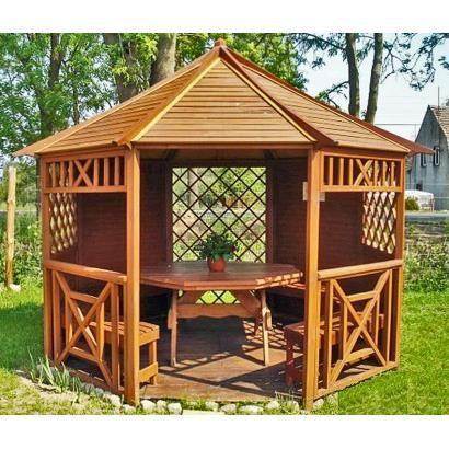 Gazebo kiosque octogonale en bois massif 3 5m achat vente kiosque gaze - Modele de kiosque en bois ...