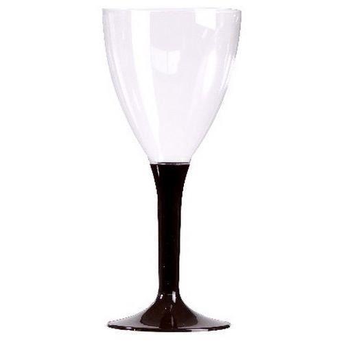 Verres vin plastique pied chocolat x 10 verre achat - Peindre des verres a pied ...