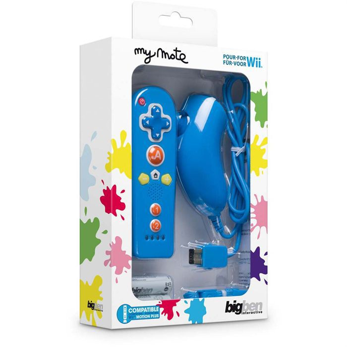 wii mini duo pack my mote manette nunchuck telec achat. Black Bedroom Furniture Sets. Home Design Ideas