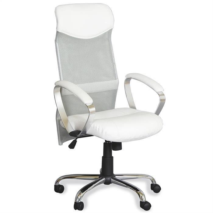 Fauteuil de bureau etoile blanc achat vente chaise de - Achat fauteuil de bureau ...