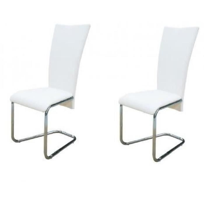 chaise blanche x2 - achat / vente chaise blanche x2 pas cher ... - Chaise Blanche Design Pas Cher