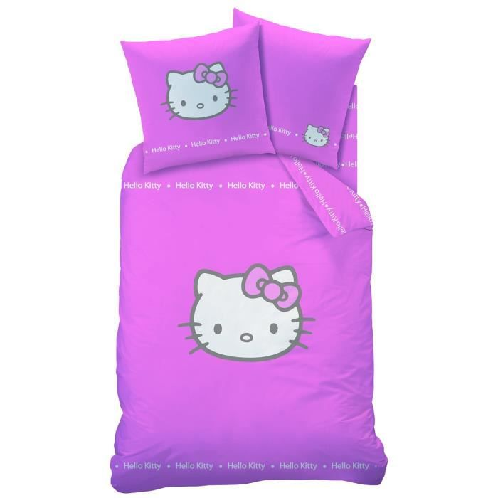 Parure de lit hello kitty betty pink achat vente parure de couette cdiscount - Parure de lit hello kitty 2 personnes ...