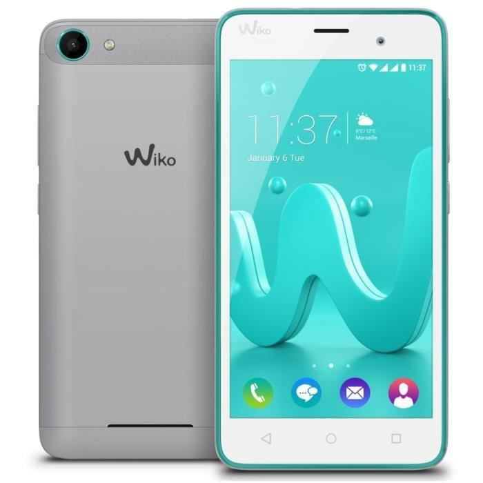 wiko jerry smartphone d bloqu h argent turquoise achat. Black Bedroom Furniture Sets. Home Design Ideas