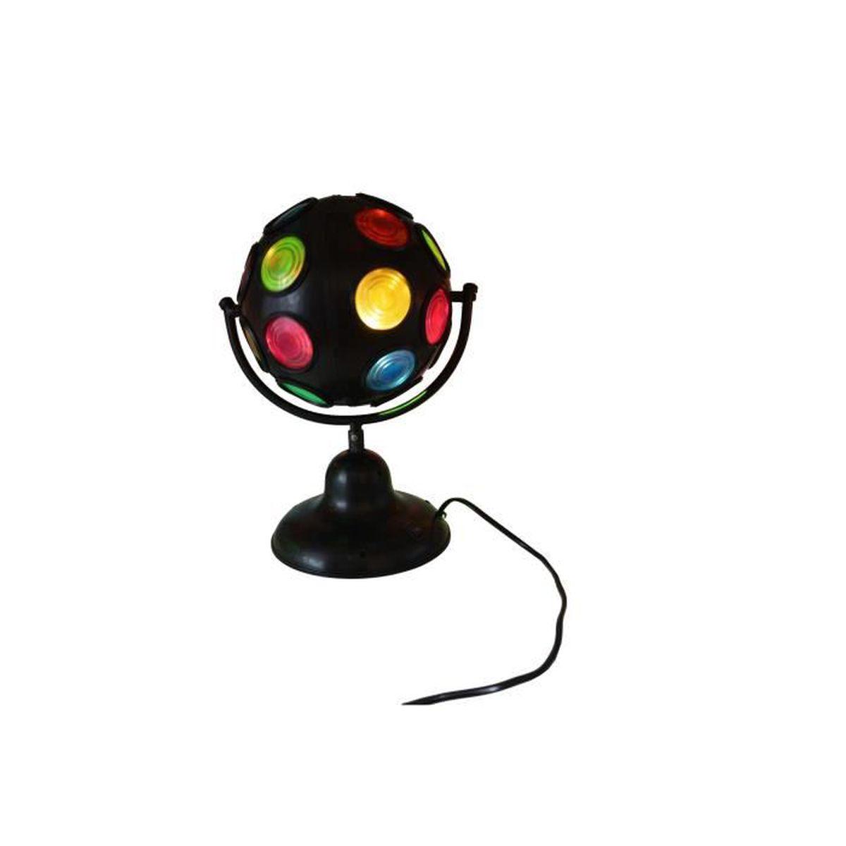 boule disco effet de lumi re 7w pivotante avec ampoule e14 couleur titane boule a facettes. Black Bedroom Furniture Sets. Home Design Ideas