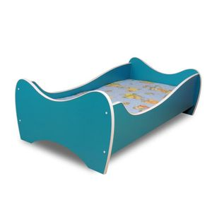 lit enfant turquois sommier matelas 140x70 cm achat vente lit complet lit pour enfant. Black Bedroom Furniture Sets. Home Design Ideas