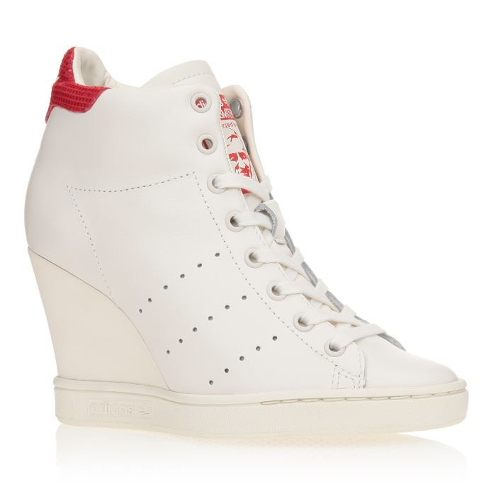 ADIDAS Baskets Stan Smith Up Chaussures Femme femme Blanc et rouge