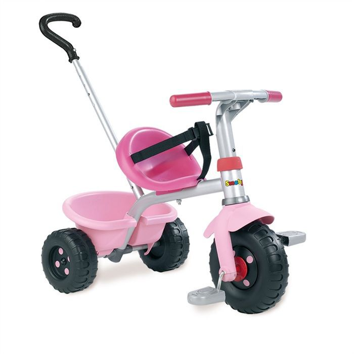 smoby tricycle canne be fun rose achat vente tricycle. Black Bedroom Furniture Sets. Home Design Ideas