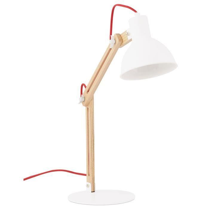 lampe de bureau bois