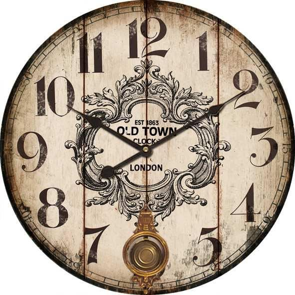 horloge pendule murale g ante balancier r tro achat. Black Bedroom Furniture Sets. Home Design Ideas