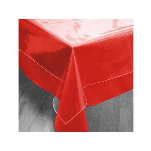 Nappe cristal transparente rectangle 140x300 cm achat for Nappe de table transparente