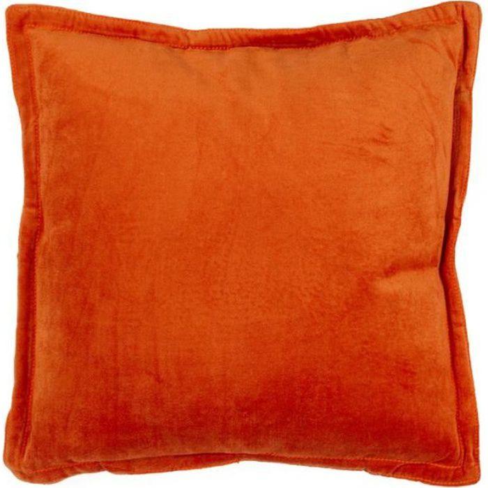 arthur coussin 40x40 orange monbeaucoussin achat vente coussin cdiscount. Black Bedroom Furniture Sets. Home Design Ideas