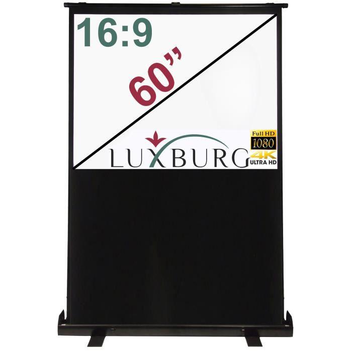 luxburg cran de projection portable 139x75cm 6 ecran de projection avis et prix pas cher. Black Bedroom Furniture Sets. Home Design Ideas