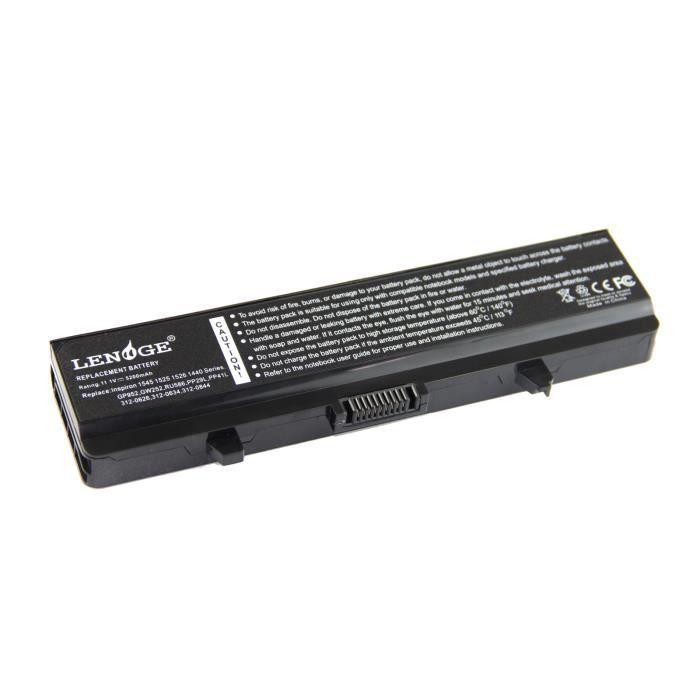 5200mah batterie compatible pour dell inspiron 1525 1526 1440 1545 1546 1750 gw240 achat. Black Bedroom Furniture Sets. Home Design Ideas