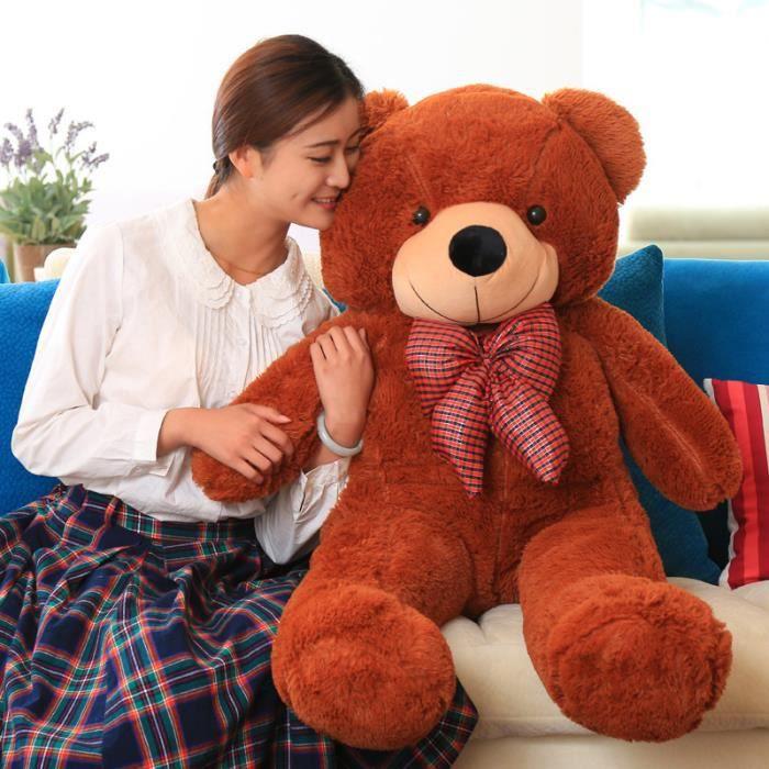 vercart jouet enfant grand nounours g ant ours en peluche. Black Bedroom Furniture Sets. Home Design Ideas