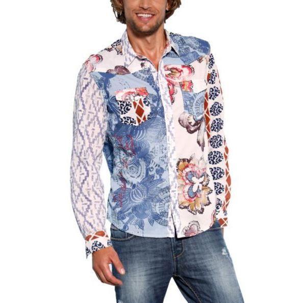 chemise desigual pepito 31c1295 bleu achat vente chemise chemisette soldes cdiscount. Black Bedroom Furniture Sets. Home Design Ideas