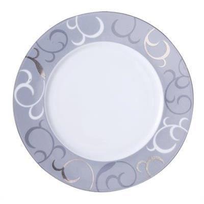 assiette plate 27 cm porcelaine blanche z nith 2615665 r ception lot de 6 achat vente. Black Bedroom Furniture Sets. Home Design Ideas