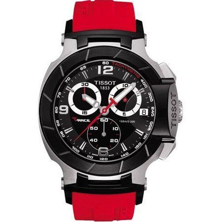 Montre homme tissot t race rouge t0484172705701 rouge achat vente montre cdiscount for Montre decoration