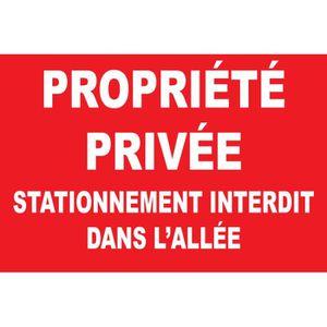 Panneau propri t priv e stationnement achat for Panneau signaletique exterieur