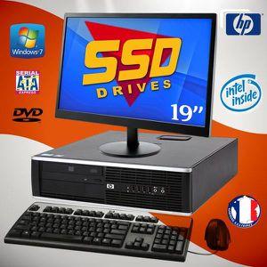 UNITÉ CENTRALE + ÉCRAN PC BUREAU HP Elite 8100 SFF - Intel G6950 / 2.80GH