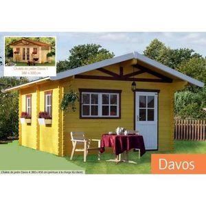 Chalet de Jardin en Bois 380 x 450 cm 17.10 m² avec espace de stockage DAVOS