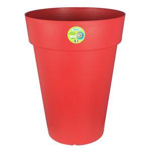 Riviera pot soleilla diam tre 40 x hauteur 53 cm rouge for Jardiniere hauteur 1 metre