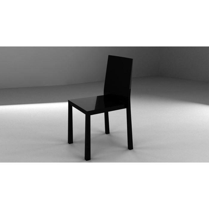 Lot de 4 chaises bellini noires achat vente chaise - Lot de 4 chaises noires ...
