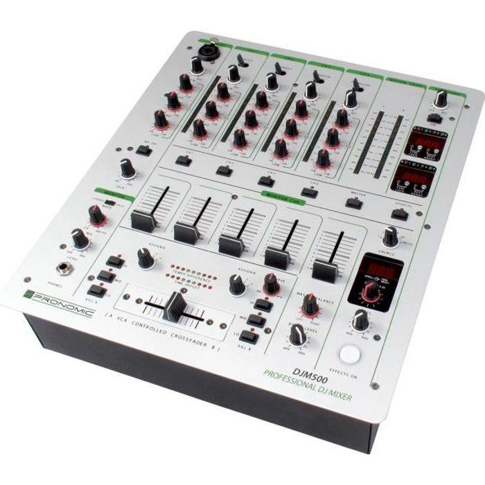 Pronomic djm500 console de mixage pour dj 5 canaux table - Meuble pour table de mixage ...