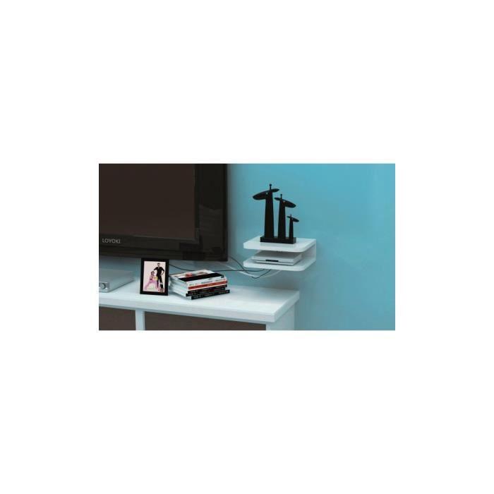 justhome cube gj1080 tag re couleur blanc achat vente etag re murale justhome cube gj1080. Black Bedroom Furniture Sets. Home Design Ideas